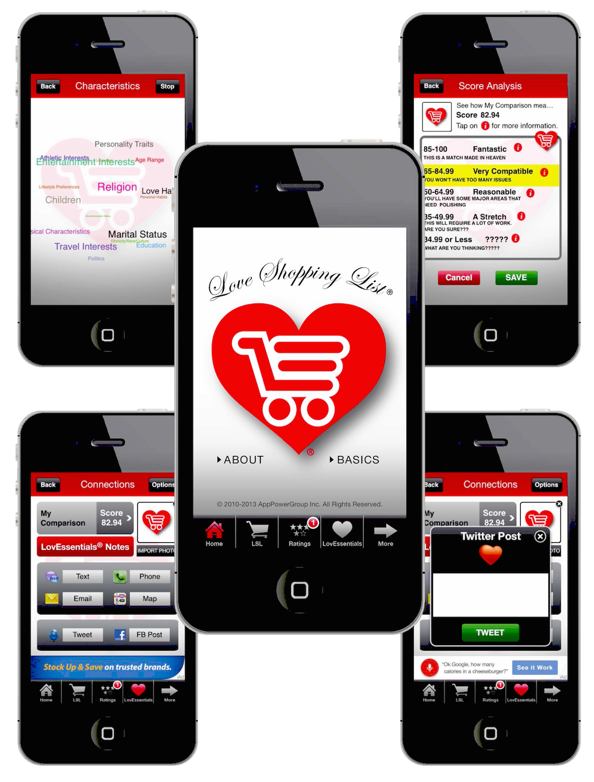Love Shopping List The True Love Calculator and Digital Black Book